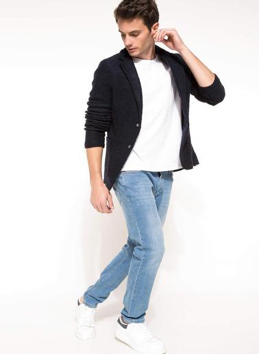 DeFacto Yün Karışımlı Blazer Ceket Lacivert